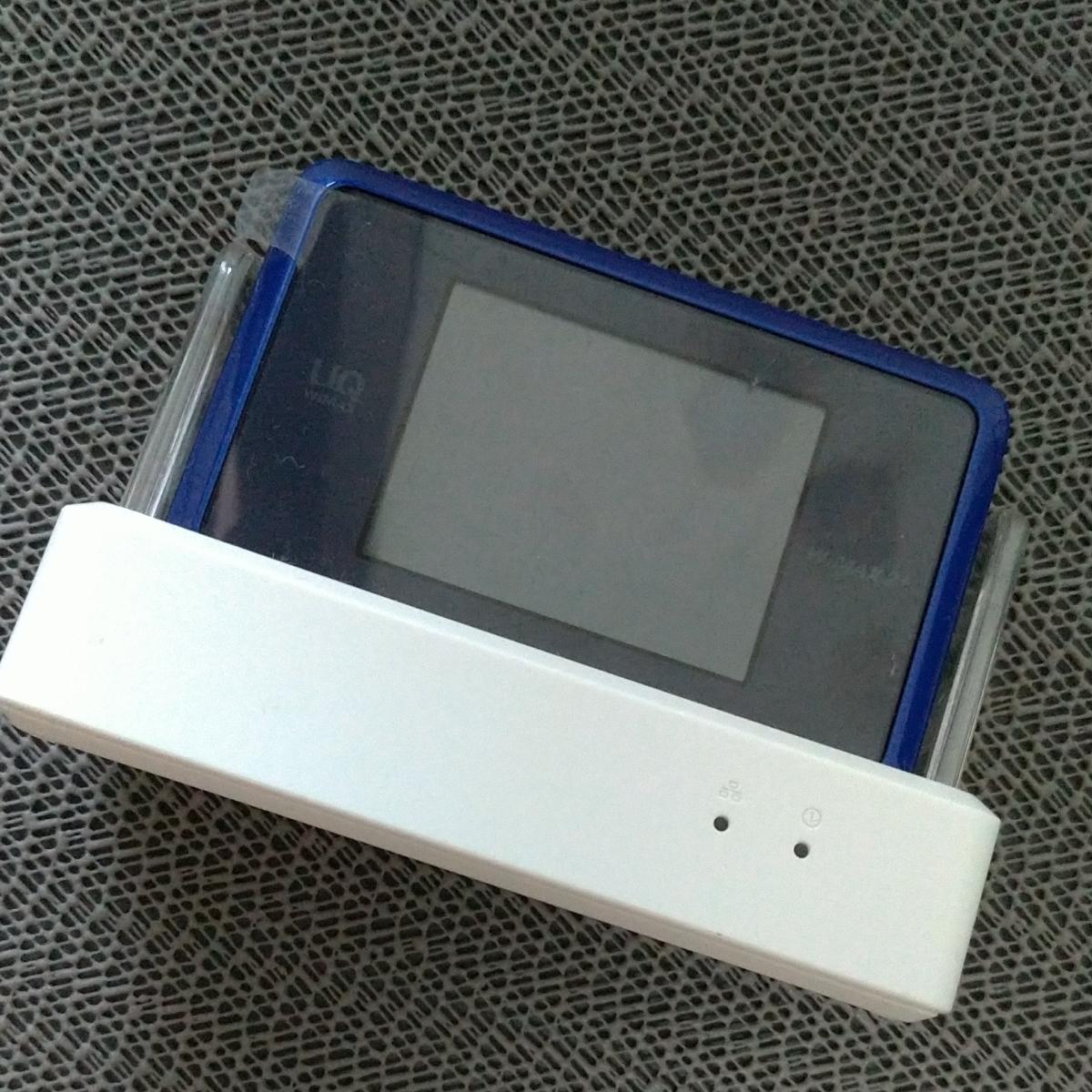 UQ WiMAX SPEED Wi-Fi NEXT WX03 クレードル WiMAX2 NEC 製