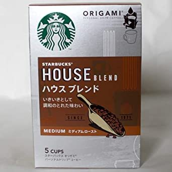 スターバックス 「Starbucks(R)」 ハウスブレンド (箱)オリガミ パーソナルドリップ コーヒー (9g×_画像2