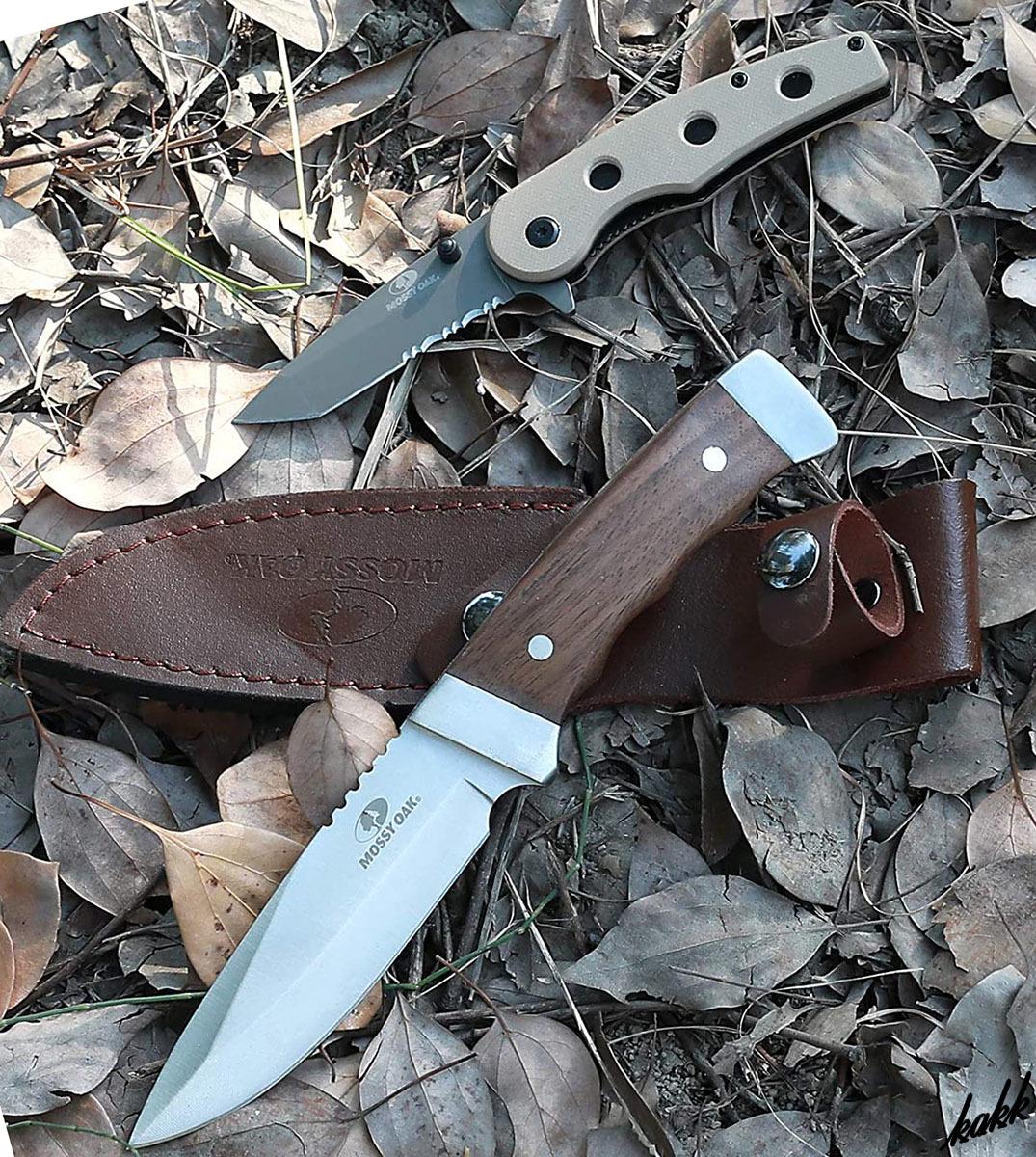 【シースナイフ&フォールディングナイフセット】 フルタング構造 チタンメッキ G10ハンドル ステンレス鋼 狩猟刀 キャンプ サバイバル