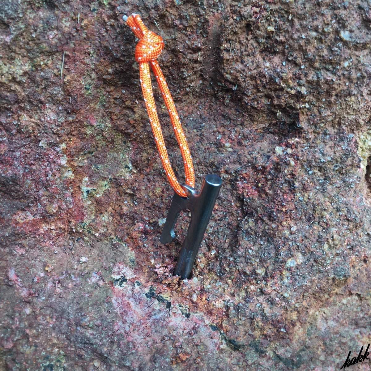 【強靭チタンペグ】 軽量ソリッドステーク 6本セット 20cm 硬い地面に対応 テント用 タープ用 アウトドア キャンプ 旅行 レジャー