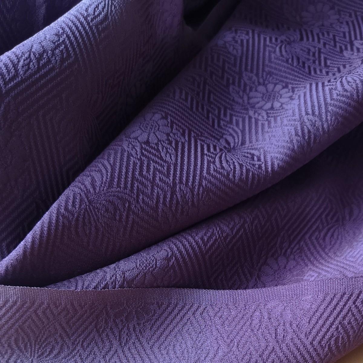 着物ほどき 正絹 ピンク色系 小豆色ぼかし 328cm+アルファ ハギレ 着物リメイク