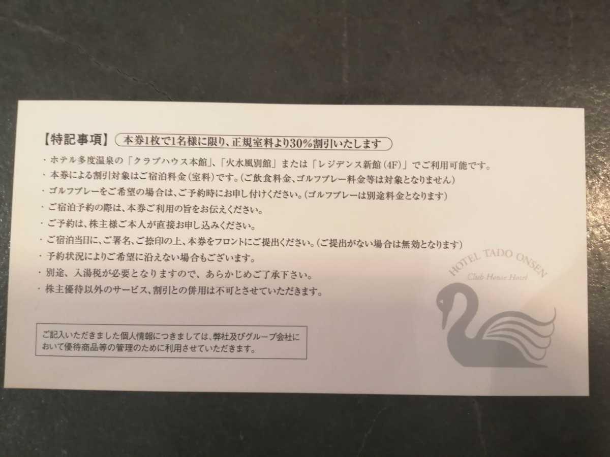 東建コーポレーション 多度温泉 株主優待 割引券 _画像2