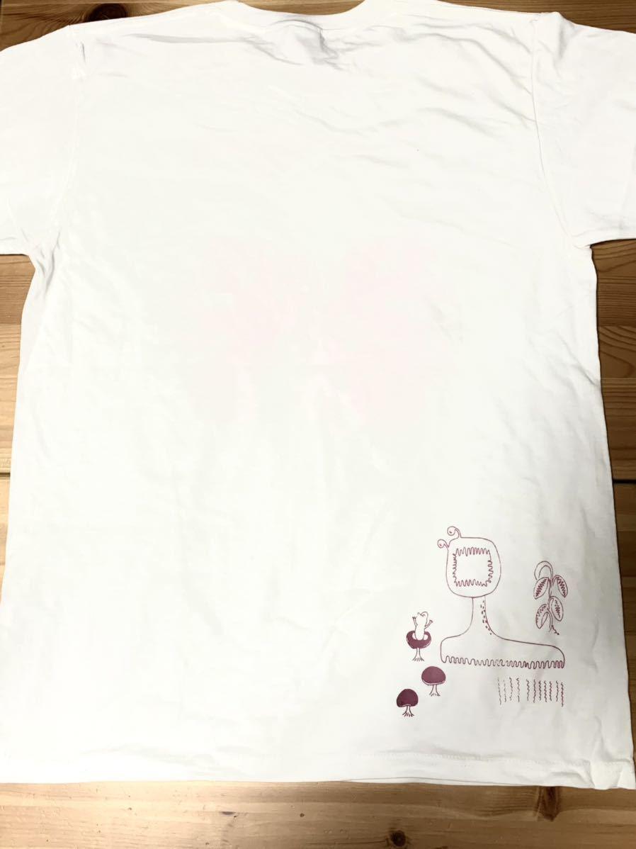 ビカクシダ リドレイ Lサイズ 半袖Tシャツ aroundaglobe platycerium ridleyi コウモリラン ホワイトバージョン_画像4