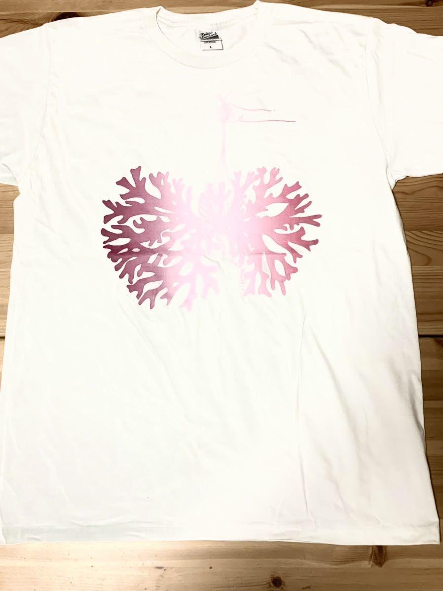 ビカクシダ リドレイ Lサイズ 半袖Tシャツ aroundaglobe platycerium ridleyi コウモリラン ホワイトバージョン_画像2