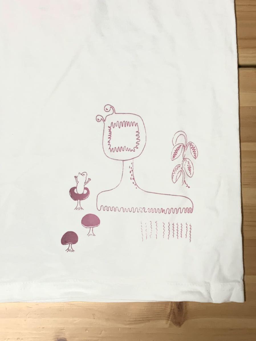 ビカクシダ リドレイ Lサイズ 半袖Tシャツ aroundaglobe platycerium ridleyi コウモリラン ホワイトバージョン_画像5
