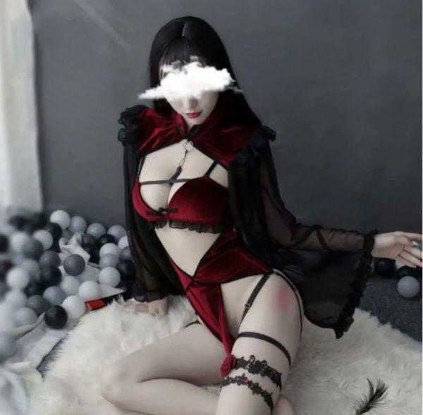 【バカ売れ】可愛い ランジェリー セクシー チャイナドレス風 チャイナ服 ベビードール_画像6