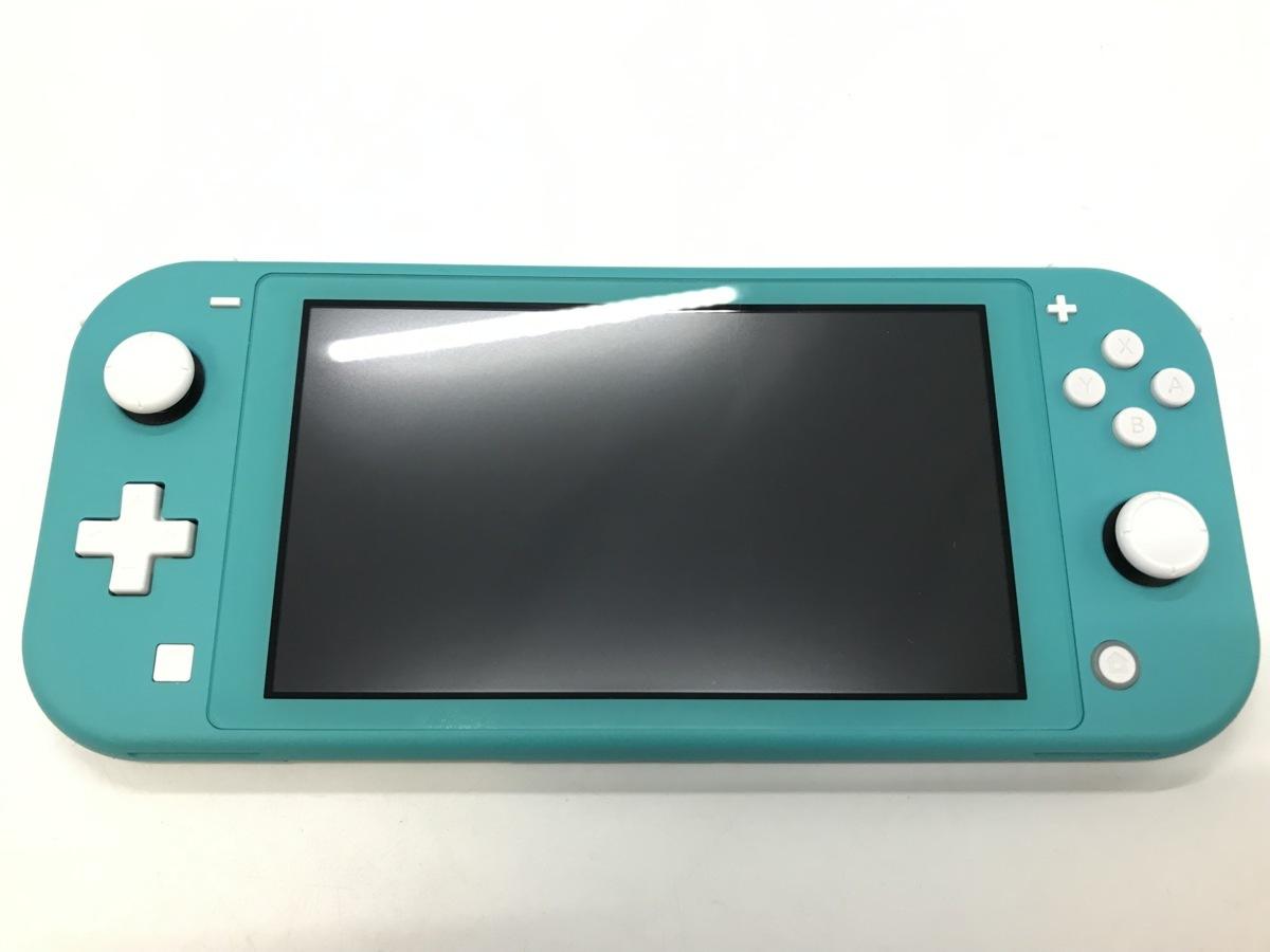 備考あり Nintendo Switch Lite/ニンテンドースイッチライト ターコイズ 任天堂 ゲーム機 ※備考あり※ ☆良品☆ [296-0910-S3]_画像4