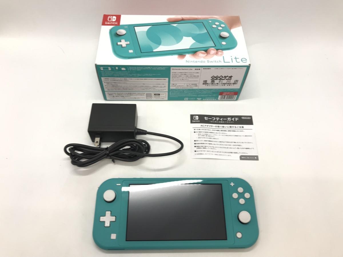備考あり Nintendo Switch Lite/ニンテンドースイッチライト ターコイズ 任天堂 ゲーム機 ※備考あり※ ☆良品☆ [296-0910-S3]_画像3