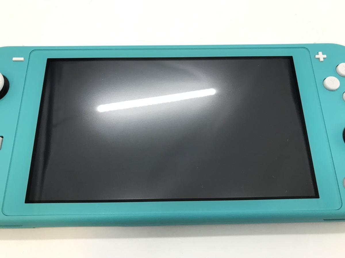 備考あり Nintendo Switch Lite/ニンテンドースイッチライト ターコイズ 任天堂 ゲーム機 ※備考あり※ ☆良品☆ [296-0910-S3]_画像6