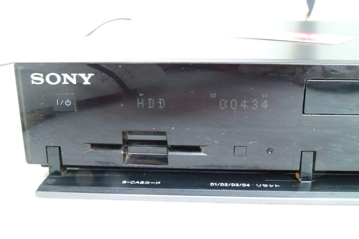 SONY ソニー】ブルーレイディスクレコーダー500GB BDZ-RX50 2009年製 500GB B-CASカード 2番組同時録画 通電のみ 'ZA208_画像3