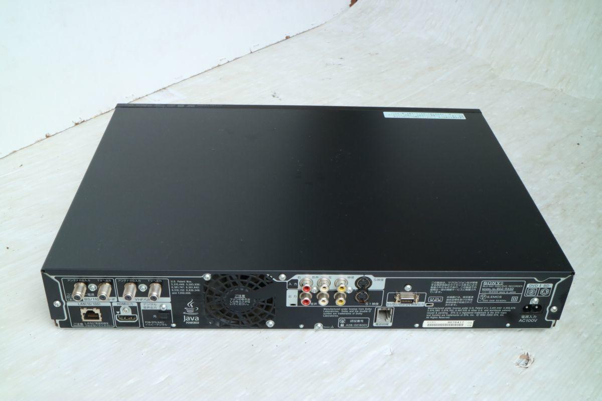 SONY ソニー】ブルーレイディスクレコーダー500GB BDZ-RX50 2009年製 500GB B-CASカード 2番組同時録画 通電のみ 'ZA208_画像8