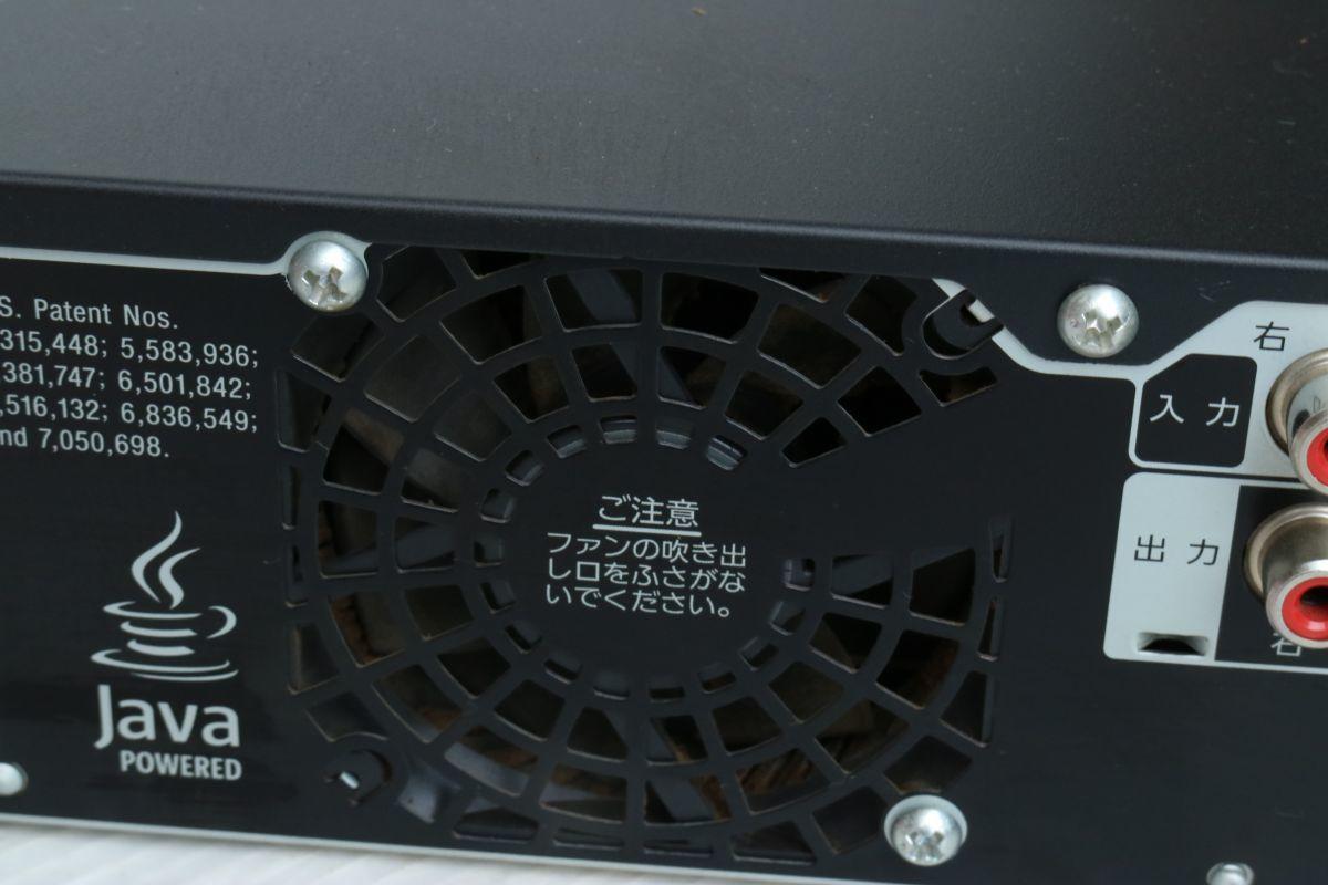 SONY ソニー】ブルーレイディスクレコーダー500GB BDZ-RX50 2009年製 500GB B-CASカード 2番組同時録画 通電のみ 'ZA208_画像10