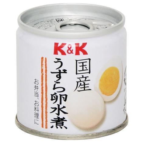 さんきん〓K&K 国産 うずら卵 水煮 6玉入_画像1