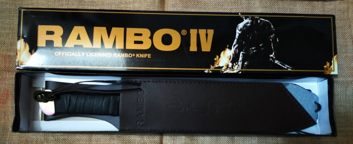RRAMBO4 ランボー4 サバイバルナイフ 極厚レインボーブレード RAMBO FIRST BLOOD  マチェット