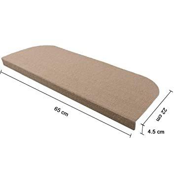 カーキ 65*24cm RAIN QUEEN 階段カーペットマット 防音 キズ防止 滑り止め 滑り止めマット 吸着 ペット 階段_画像6