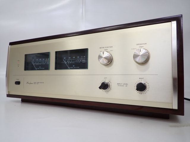 Accuphase P-260 アキュフェーズ ステレオパワーアンプ 動作可 ウッドキャビネット付 £ 62297-2