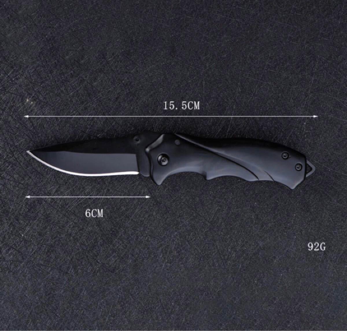 アウトドア ナイ 折畳式ポケット 多機能ナイフ シートベルトカッター 便利携帯ナイフ 木を切り 登山 キャンプ 釣り防災用ブラック