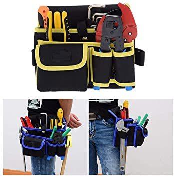 工具袋-4-BL ZMAYA STAR 腰袋片側 電工用 工具差し 工具袋 ウエストバッグ ツールバッグ ツール ポーチ ZMG_画像3