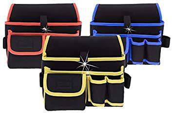 工具袋-4-BL ZMAYA STAR 腰袋片側 電工用 工具差し 工具袋 ウエストバッグ ツールバッグ ツール ポーチ ZMG_画像2