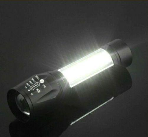 【2個セット】コンパクト強力高輝度 防水LED懐中電灯 LED懐中電灯 3モード USB充電 アウトドア
