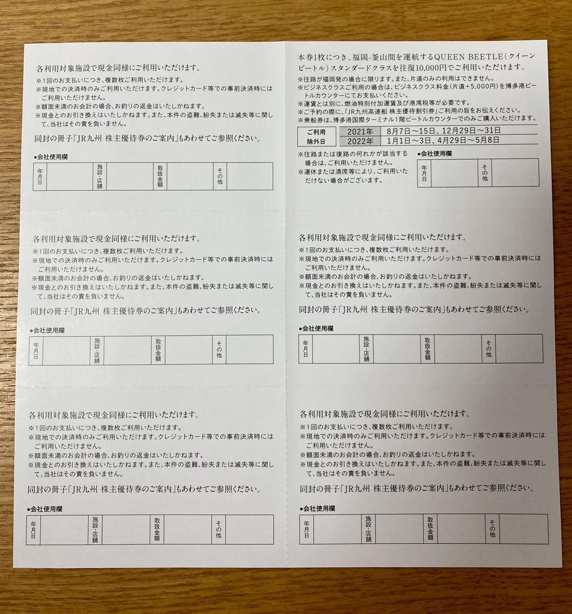 【送料無料】九州旅客鉄道株式会社 JR九州グループ 株主優待券 セット 有効期間:2022年5月31日まで_画像4