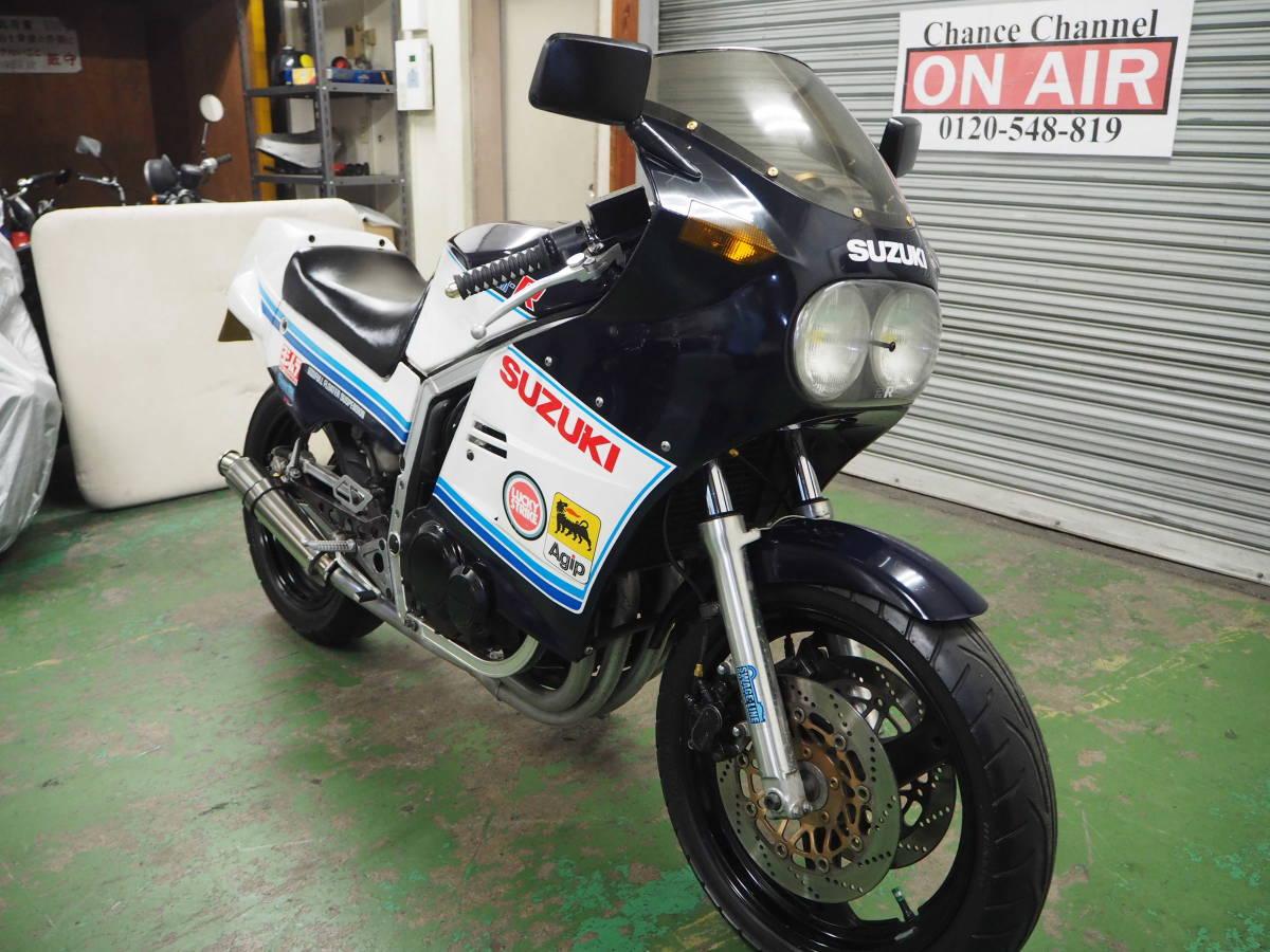 「スズキ GSX-R400 1984年初期モデル エンジン実動・走行可 フロントインパルス youtube動画あり 埼玉より」の画像3