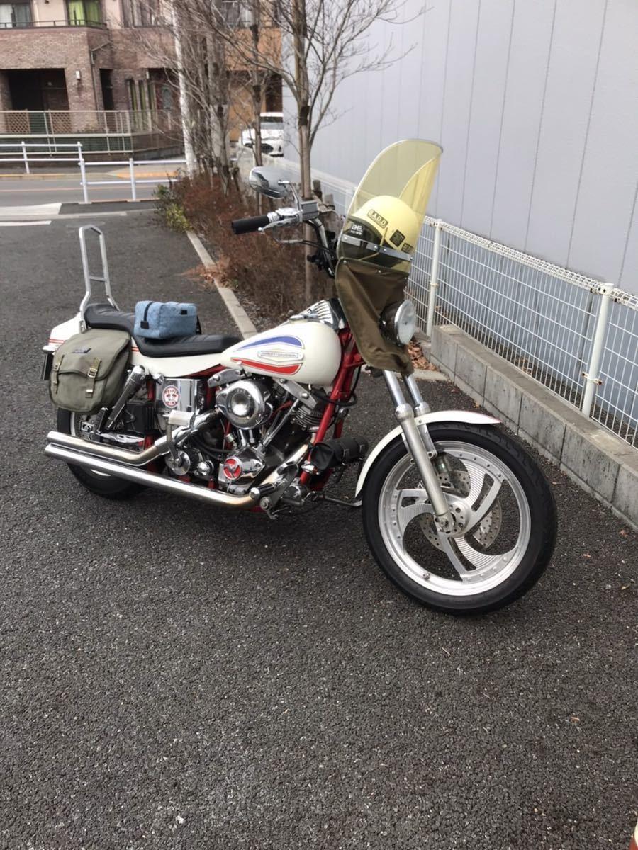 「ハーレーFX 1200ボートテール ショベルヘッド 1400cc 4本プラグ レア 当時 希少 日本に1台」の画像1