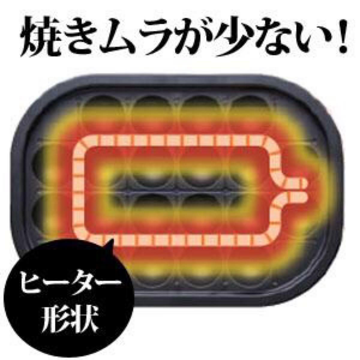 焼肉プレート 鉄板 たこ焼き器 2WAY (たこ焼きプレート20穴 平面プレート) レッド ホットプレート 新品 アイリスオーヤマ