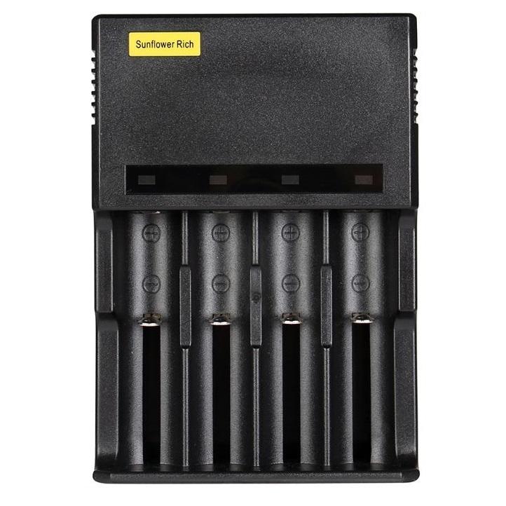 4個タイプ ICR123A 18650 10440 14500 16340 18350 18500 万能充電器 急速充電器 バッテリー 懐中電灯 ヘッドライト 充電池06_画像2