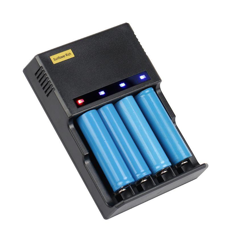 4個タイプ ICR123A 18650 10440 14500 16340 18350 18500 万能充電器 急速充電器 バッテリー 懐中電灯 ヘッドライト 充電池04_画像4