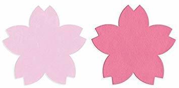 2色 100枚 【Amazon.co.jp 限定】和紙かわ澄 桜 和紙 さくらのかたち スーパーバリューパック 100枚 Aセッ_画像1