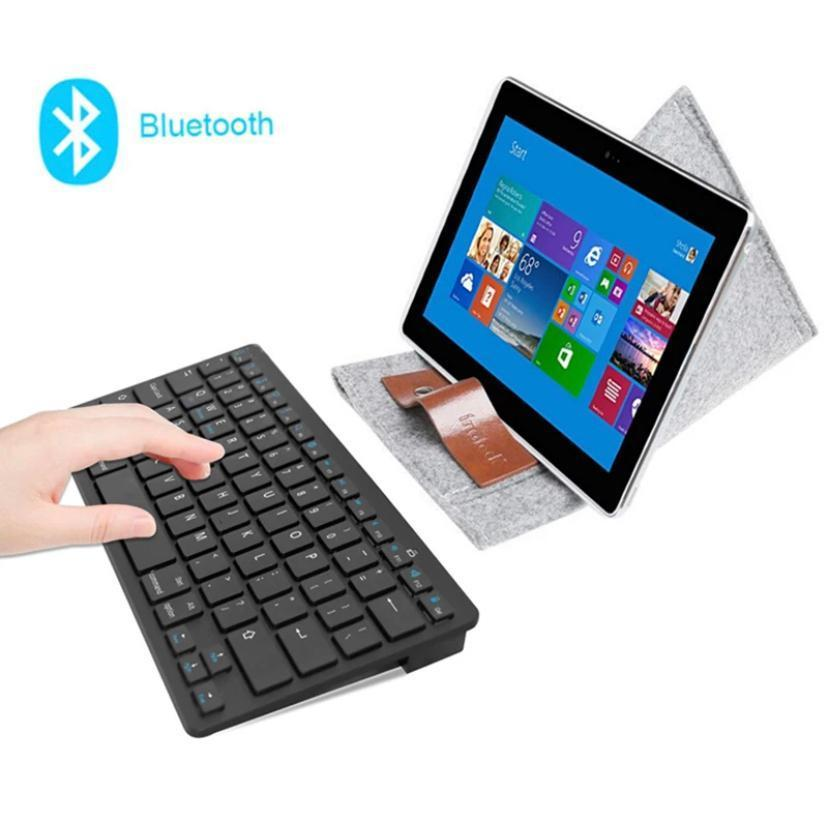 Bluetoothキーボード ワイヤレスキーボード 黒 薄型 Windows