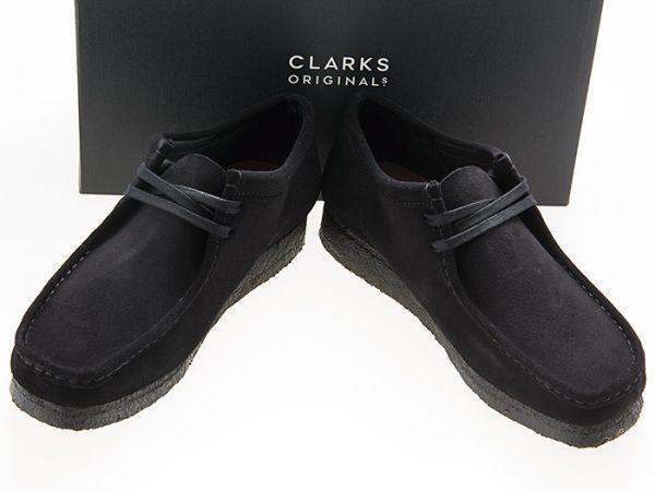 新品/CLARKS ORIGINALS/クラークス オリジナルズ/WALLABEE/ワラビー/BLACK SUEDE/ブラック スエード/黒/26155519/27.0cm_画像1