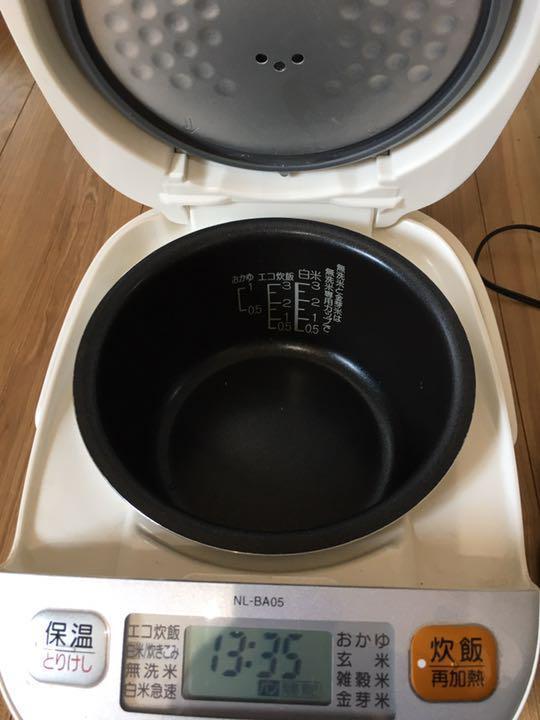 象印 マイコン炊飯ジャー 炊飯器 3合炊き 0.54L NL-BA05