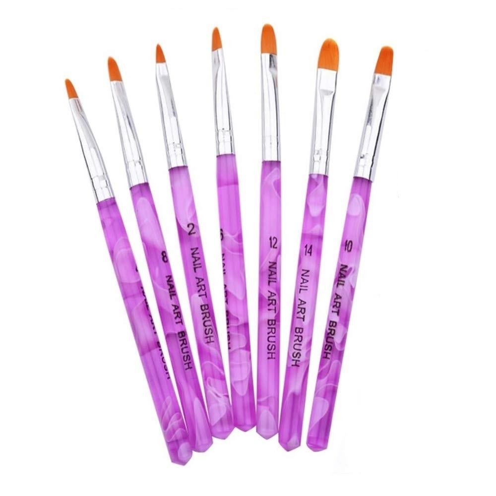 【VAPS_1】ジェル ネイルブラシ UV用 平筆 《7本セット》 ネイルアート レジン 送込_画像1