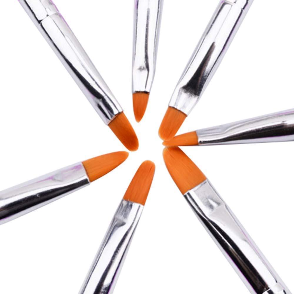 【VAPS_1】ジェル ネイルブラシ UV用 平筆 《7本セット》 ネイルアート レジン 送込_画像2