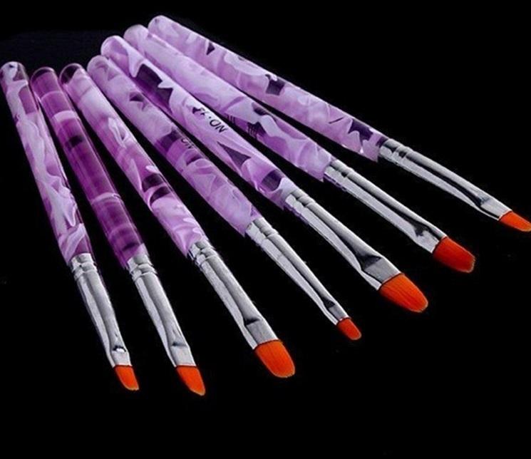 【VAPS_1】ジェル ネイルブラシ UV用 平筆 《7本セット》 ネイルアート レジン 送込_画像3