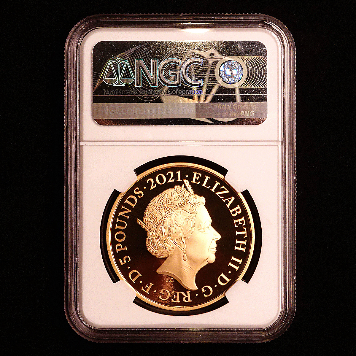 イギリス 2021年 ロイヤル・アルバート・ホール開場150周年記念 英国 5ポンド 金貨 NGC PF70UC【最高鑑定】_画像5
