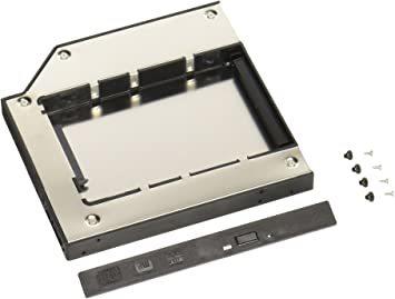 ホワイト グルービー ノートPC薄型ドライブベイ用 2.5インチ内蔵型HDD/SSDマウンタ [ スリムラインSAT_画像1