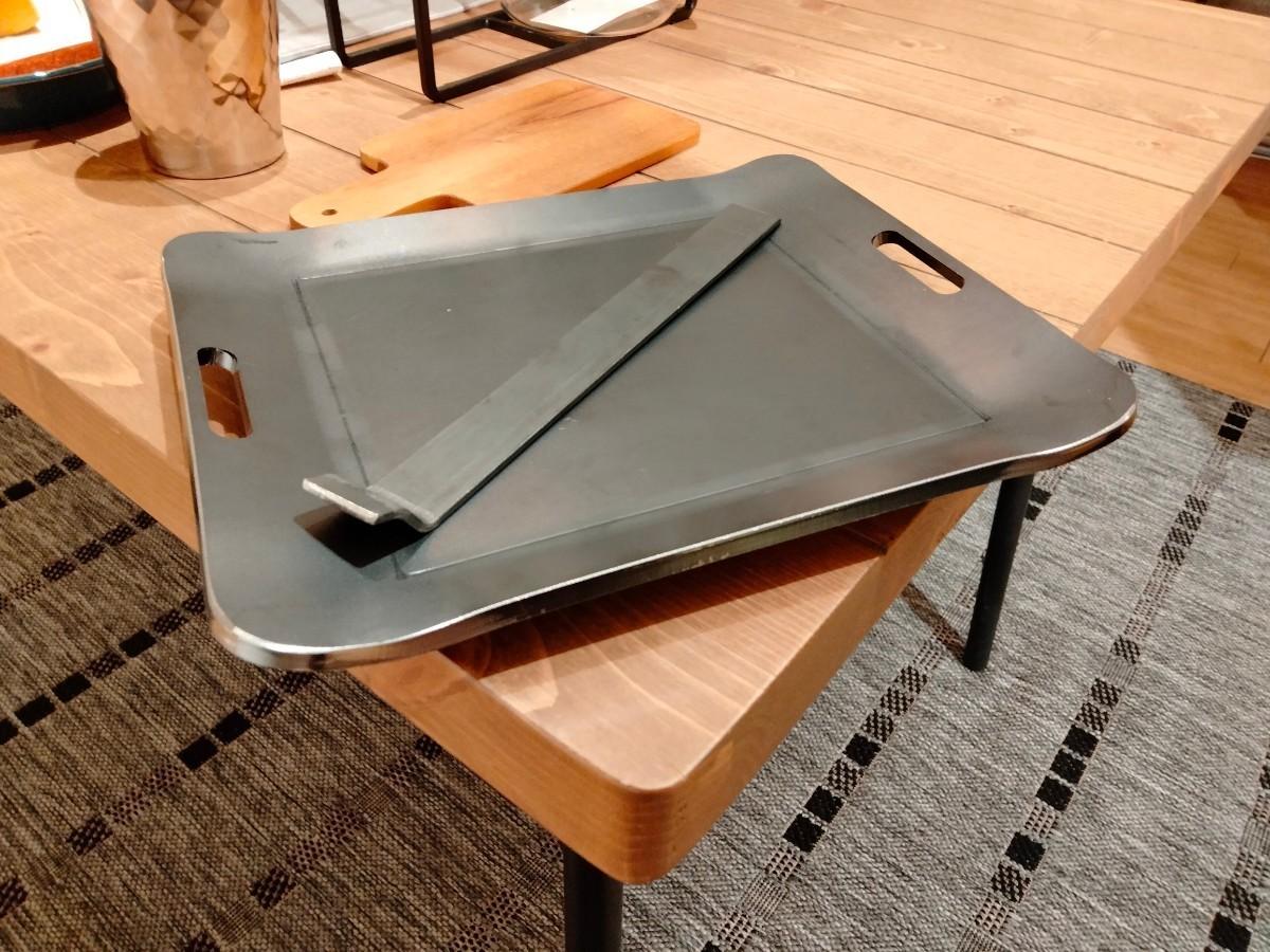 厚み6mm バーベキュープレート キャンプ ソロ 鉄板 グリルプレート 黒皮鉄板