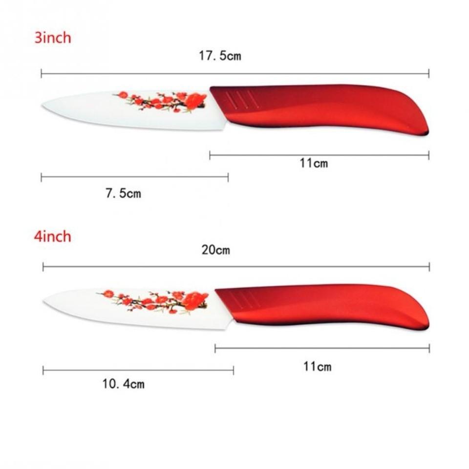 セラミック 包丁  4本 + ピーラー付き ナイフ ジルコニア  赤 白
