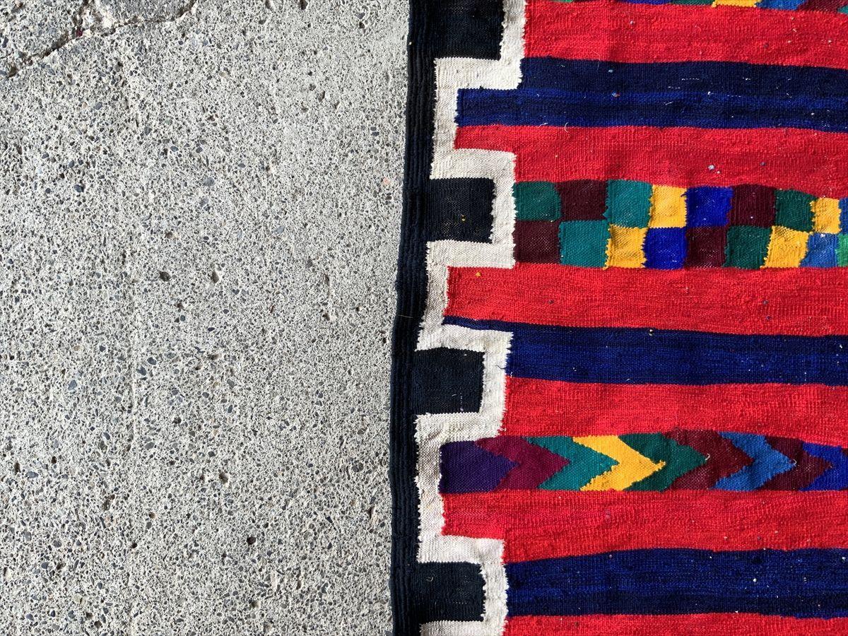 294×107cm アフガニスタン産 キリム ラグ アンティーク家具 マジック カーペット 01AEAKE210830024D_画像8