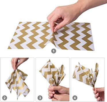 4色 NALER ラッピング ラッピング ペーパー 包装紙 おしゃれ 薄葉紙 梱包 ゴールド インナーラップ ライス紙 チューラ_画像3