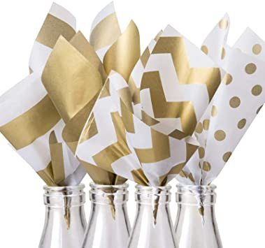 4色 NALER ラッピング ラッピング ペーパー 包装紙 おしゃれ 薄葉紙 梱包 ゴールド インナーラップ ライス紙 チューラ_画像4
