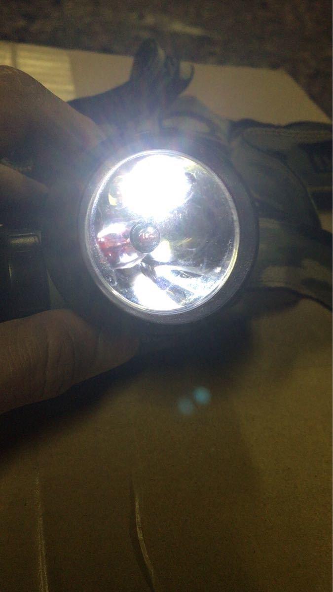 LEDヘッドライト ヘッドランプ 明るい 夜釣り 高光量 夜間作業 中古現状品