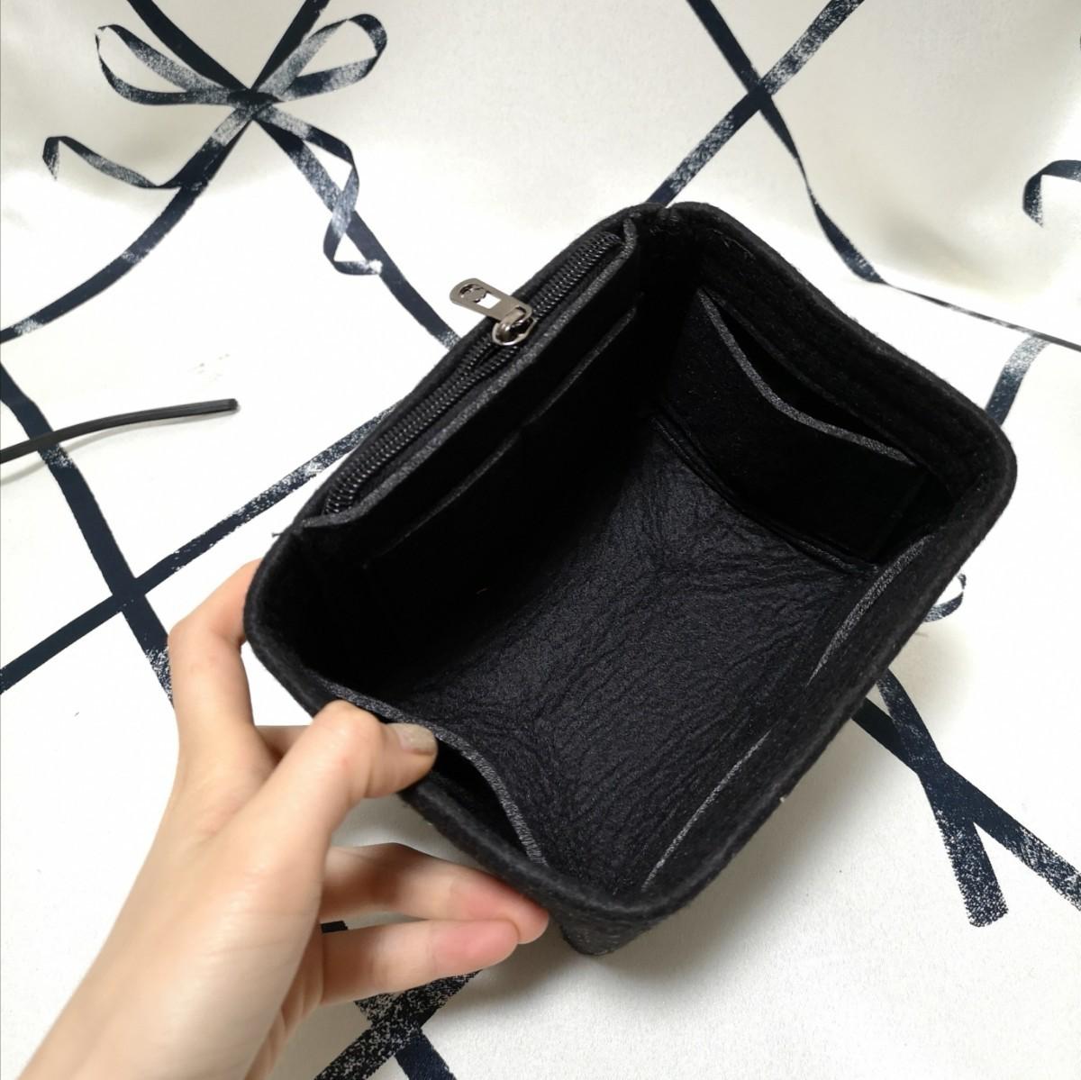バッグインバッグ インナーバッグ  ピコタン PM ブラック 黒 ノワール