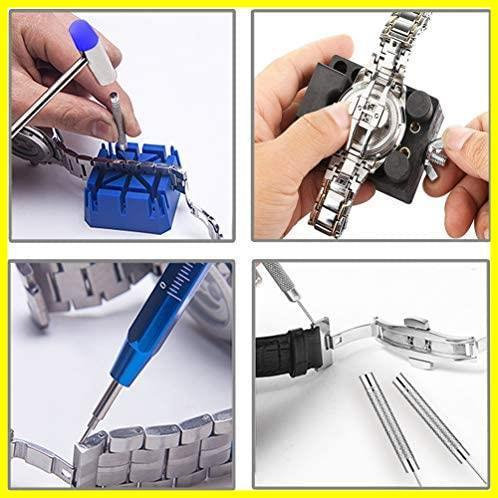 新品腕時計修理工具 時計工具 電池交換 腕時計ベルト調整 バンド調整 時計用工具キット 時計道具セットT7SZ_画像4