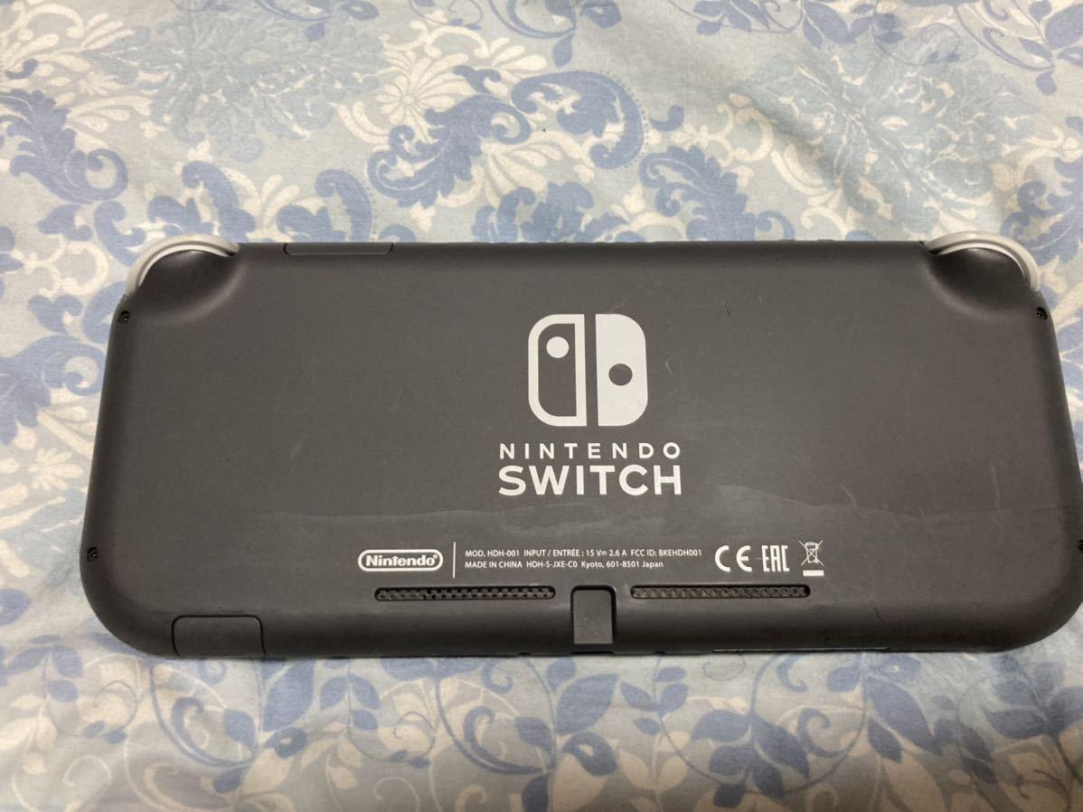 Nintendo Switch Lite グレー 任天堂 本体 + ソフト1つ ニンテンドー スイッチライト 美品_画像2