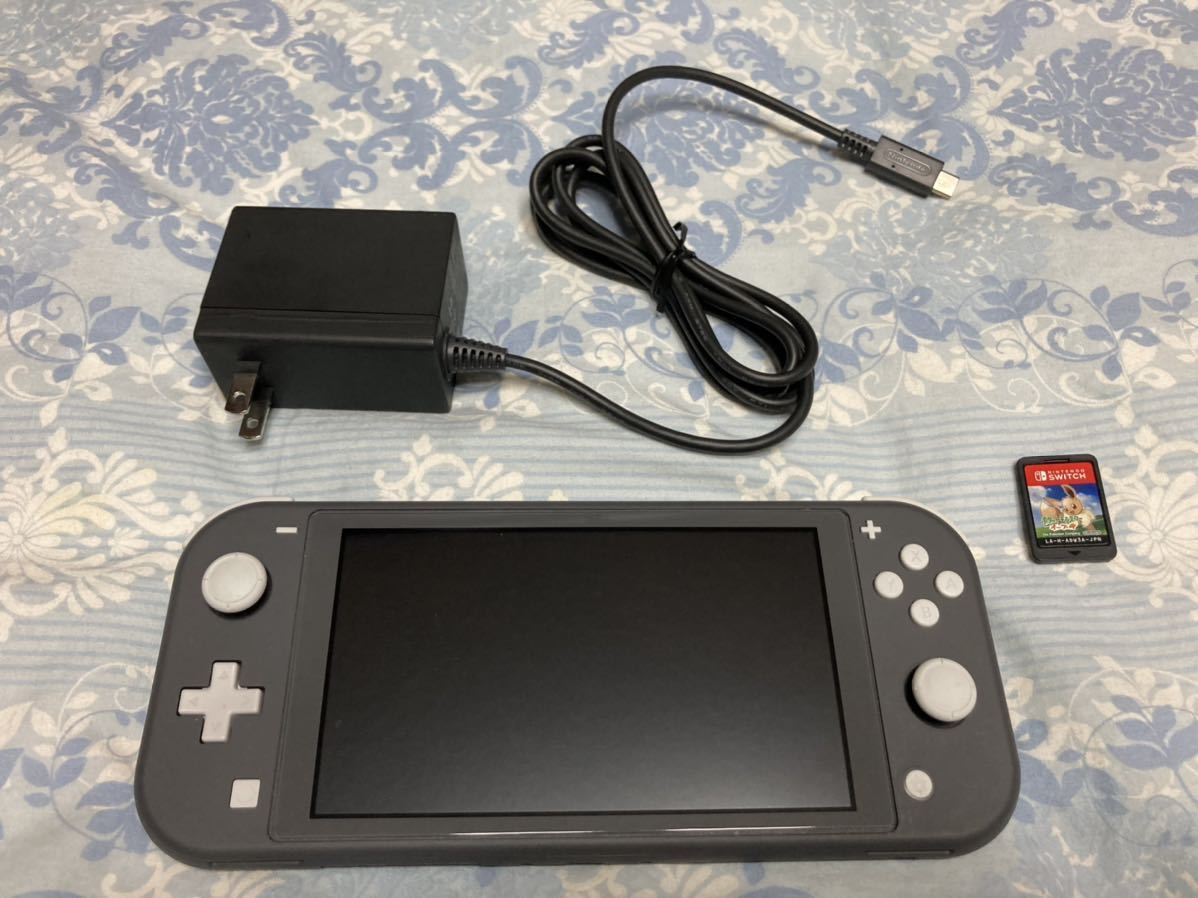 Nintendo Switch Lite グレー 任天堂 本体 + ソフト1つ ニンテンドー スイッチライト 美品_画像1