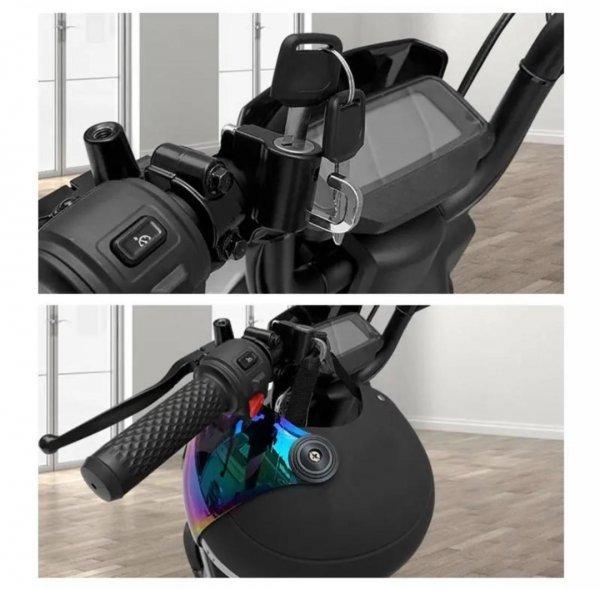 ヘルメットロックホルダー バイク 盗難防止 汎用 キーロック 鍵 自転車 防犯_画像6